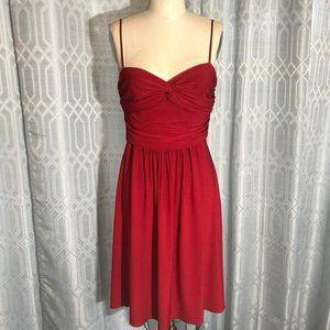 *3/$18*B. Smart Ruffled Top Short Red Dress